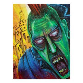 Cartão do zombi do punk rock