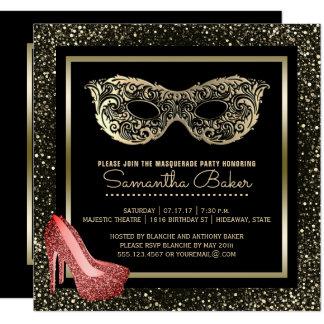 Cartão Doce cor-de-rosa dezesseis do ouro da bola de