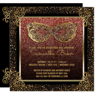 Cartão Doce dezesseis do ouro do rosa do partido do