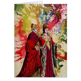 Cartão Doge Venetian e Dogeressa por Michael Moffa