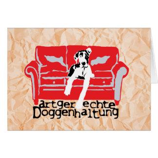 Cartão Doggenhaltung merecidas espécie