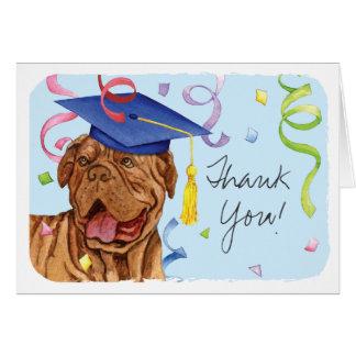Cartão Dogue de Bordéus Graduação