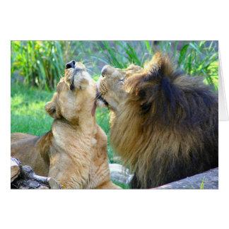 Cartão Dois leões