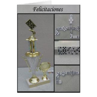 Cartão dominó Felicitaciones