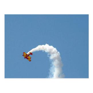 Cartão dos Acrobatics do biplano