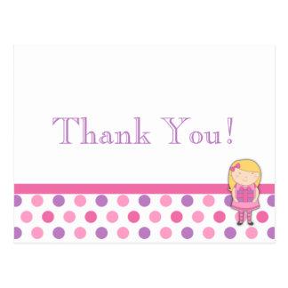 Cartão dos cartões de agradecimentos das bolinhas cartão postal