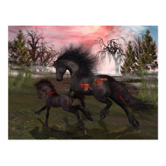 Cartão dos cavalos do Natal