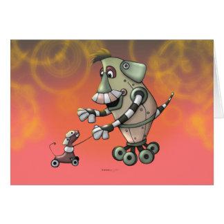 Cartão dos DESENHOS ANIMADOS dos ROBÔS de ADOGGY E