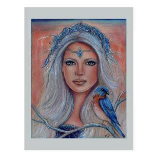 Cartão dos fae do Bluebird por Renee Lavoie