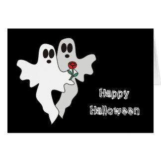Cartão dos fantasmas do Dia das Bruxas