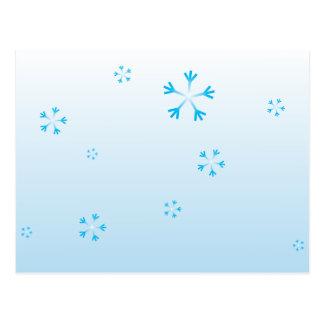 Cartão dos flocos de neve do Natal Cartao Postal