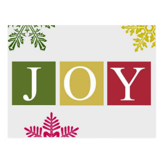 Cartão dos flocos de neve do Natal da alegria Cartão Postal