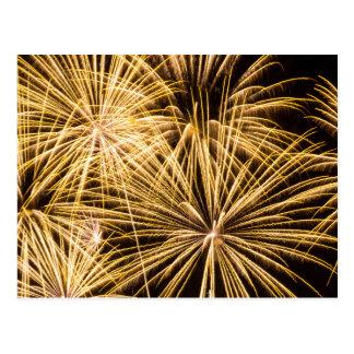 Cartão dos fogos-de-artifício