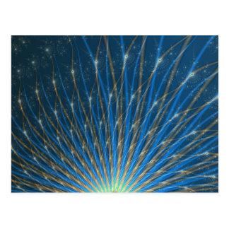 Cartão dos fogos-de-artifício do Fractal