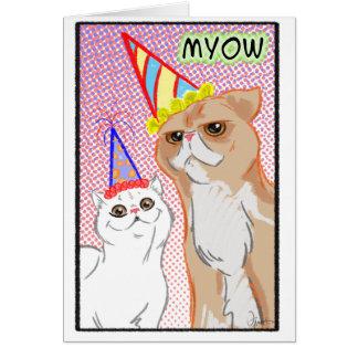 Cartão dos gatos do partido
