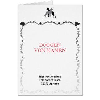 Cartão dos grandes dinamarqueses