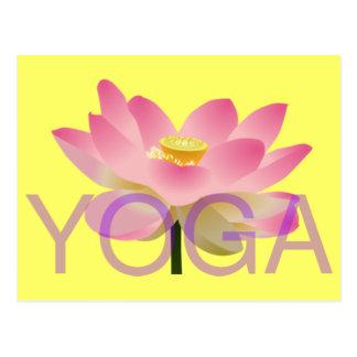 cartão dos lótus da ioga cartão postal