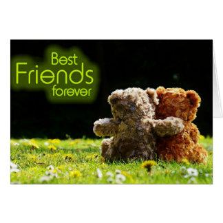 Cartão dos melhores amigos do urso de ursinho