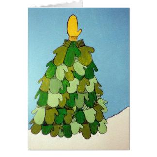 Cartão dos mitenes do Natal