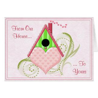 Cartão dos namorados do Birdhouse dos namorados