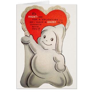 Cartão dos namorados do fantasma do vintage