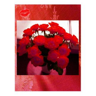 Cartão dos namorados II das rosas vermelhas - Cartão Postal