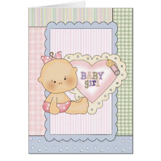 Cartão dos parabéns do bebê/convite/obrigado do