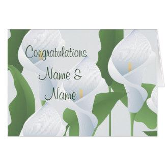 Cartão dos parabéns dos lírios de Calla do