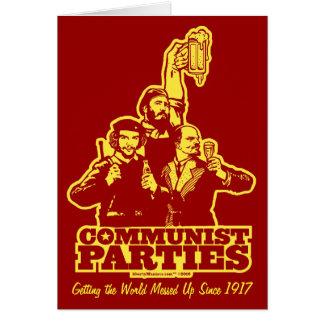 Cartão dos partidos comunistas
