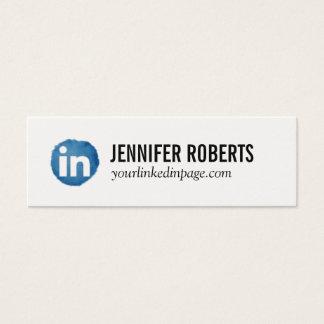 Cartão dos trabalhos em rede de Linkedin