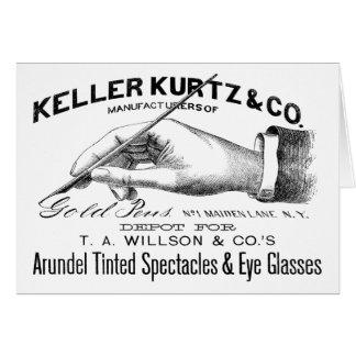 Cartão dos vidros do olho do vintage
