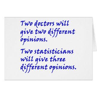 Cartão Doutor e estatístico