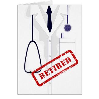 Cartão Doutor Médico Revestimento Homem Costume de