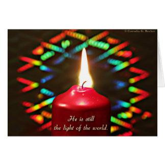 Cartão É ainda a luz do mundo