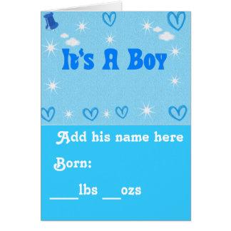 Cartão É um Boy_