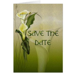 Cartão Economias brancas da série do casamento do Calla a