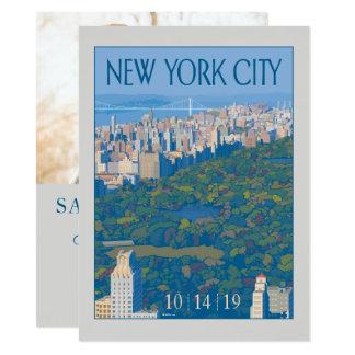 Cartão Economias da Nova Iorque | a data - foto