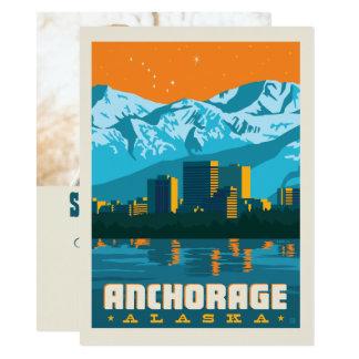 Cartão Economias de Anchorage, Alaska | a data - foto
