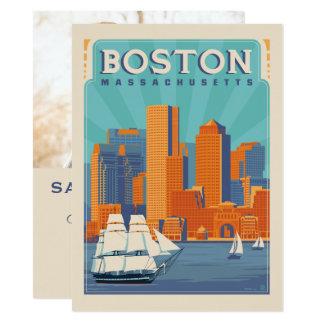 Cartão Economias de Boston, Massachusetts | a data - foto