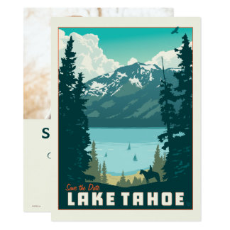 Cartão Economias de Lake Tahoe | a data - foto