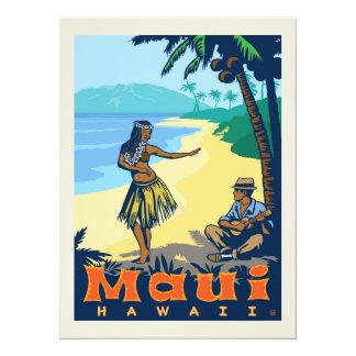 Cartão Economias de Maui, Havaí | a data - foto