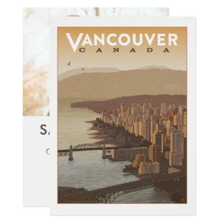 Cartão Economias de Vancôver Canadá | a data - foto