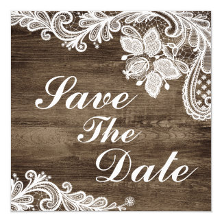 Cartão Economias rústicas da madeira & do casamento do