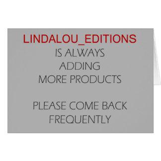 Cartão Edições de Lindalou