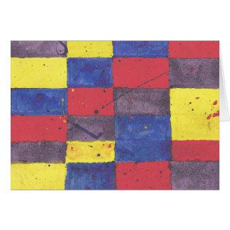 Cartão Edredão do Splatter