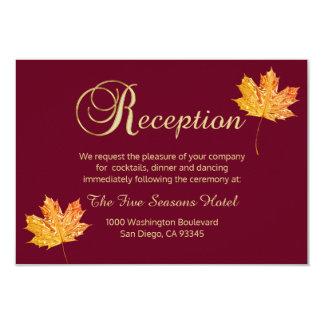 Cartão elegante da RECEPÇÃO do ouro de Borgonha do