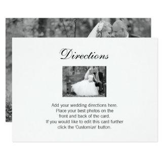 Cartão elegante dos sentidos da foto do casamento
