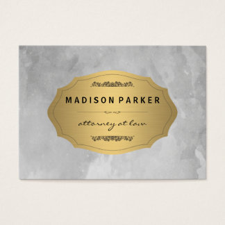 Cartão elegante escovado cinzas da nomeação da