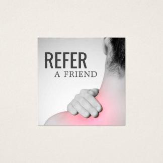 Cartão elegante moderno da referência do terapeuta