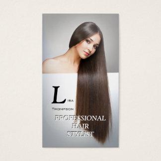 Cartão elegante profissional da beleza do